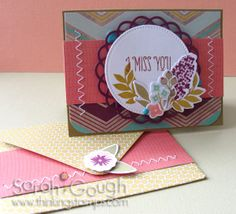 Mini Card Recipe Swap! Sarah Gough www.thinkingstamps.com