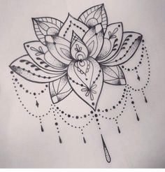 Cut the flower in half with a solid line to under line my shoulder tattoo