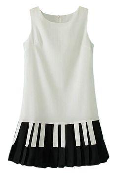 ROMWE   ROMWE Piano Key Print Sleeveless Black, The Latest Street Fashion