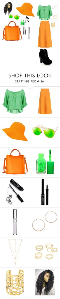 """BRIGHT ORANGE AND GREEN"" by babiegirlmaw ❤ liked on Polyvore featuring Boohoo, Loro Piana, Gregory Ladner, AQS by Aquaswiss, Dooney & Bourke, Bobbi Brown Cosmetics, Giorgio Armani, Chantecaille, Jennifer Zeuner and Natalie B"
