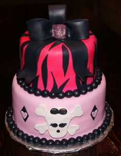 punk rock baby shower cake by betnie bakes