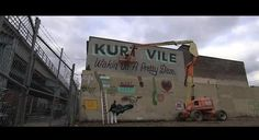Nice mural artwork by Steve Powers for Kurt Vile's new album.
