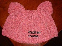 Petite blouse en coton explications tricot