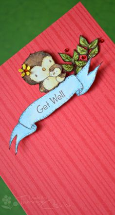 Get Well - purple onion stamps