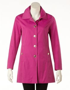 Fuchsia Button Front Jacket (Petite Only)  New coat!