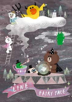 LINE friends fan art on Behance