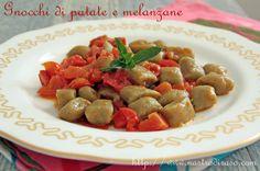 Gnocchi di patate e melanzane aromatizzati con basilico e mentuccia