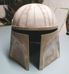 Great templates and instructions for making a cardboard helmet.