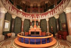 The chancel below the dome at Jesuskirken in the Valby district of Copenhagen, Denmark.