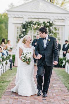 "The wedding of Mr. Chad Orman and Mrs. Caroline Hurst Orman ""An Elegant Southern Garden Wedding"" www.styleblueprint.com"