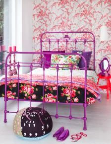 Purple bed frame