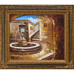 Private Courtyard (Framed) by overstockArt on Opensky