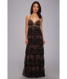 Free People Magic Lamp Maxi Party Dress Wine Combo - 6pm.com
