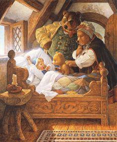 Goldilocks and the 3 Bears by Scott Gustafson  #ScottGustafson