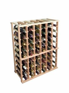 Individual Half Height Wine Rack, Premium Redwood Unstained by Midwest Homebrewing and Winemaking Supplies. $249.99. Designer Series Individual Half Height Wine Rack, Premium Redwood Unstained. The Individual Half Height wine rack is a very popular size. Each bottle is cradled on two rails that are cut with beveled ends and rounded edges which ensures the labels will not tear when the bottles are removed. The Individual Half Height wine rack is 6 columns wide x 9 r...