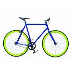 Retrospec Fixie Beta Series Globetrotter Fixed Gear Single Speed Urban Road Bike (Blue/Green) $329