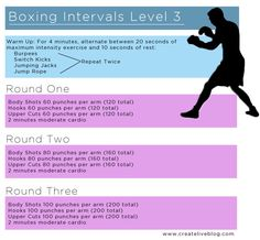 Createlive: FIT | Printable Boxing Workouts I would be out at about 20 hits right now. #goals