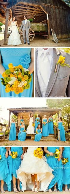 I like this colour combo, maybe for a late spring wedding or early summer?