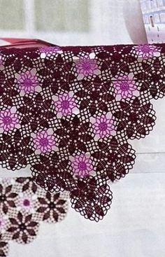 Crochet shawl s ♥LCP-MRS♥ with diagrams.--- вязание крючком, салфетка, схемы