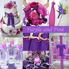 Purple and pink are very girly and make a nice combination for a summer wedding.