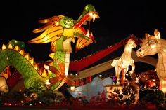 Taoyuen Lantern Festival China  takes place at the end of the Chinese New YearCelebration
