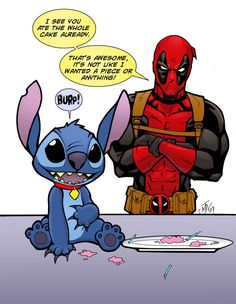 I feel like now that Disney owns most of marvel, they should let Deadpool have Stitch as a pet.