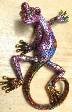 Large handmade gecko metal wall art | Gecko Mania | Pinterest ...