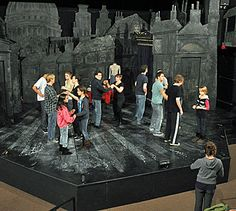 simple theatre set designs for A Christmas Carol - Google Search ...