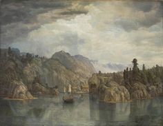 Choosing a country's artworks for Europeana Norway Stavanger, Landscape Art, Landscape Paintings, Romanticism, Norway, Scenery, Sky, Sculpture, Gallery
