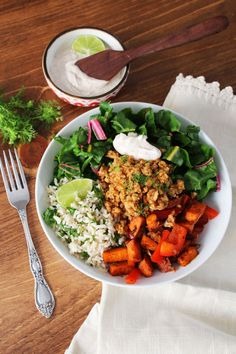 Chard Taco Salad with California Walnut 'Meat'   #sponsored   vegan recipe   Chard in Charge Blog