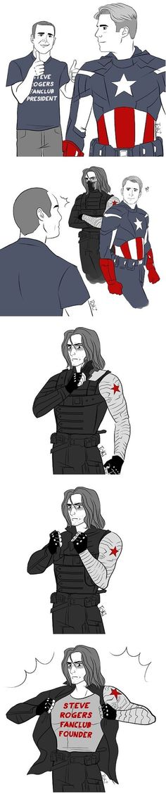 Phil Coulson's about to face his ultimate Who-Loves-Captain-America-More opponent: Bucky Barnes. The Avengers and Marvel Marvel Funny, Marvel Memes, Marvel Dc Comics, Marvel Quotes, Winter Soldier, Chris Evans, Thor, Bucky And Steve, Dc Memes