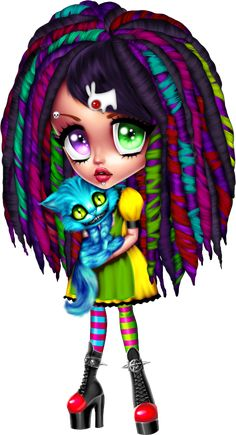 Discover recipes, home ideas, style inspiration and other ideas to try. Cute Cartoon Images, Cute Cartoon Girl, Cartoon Art, Voodoo Doll Tattoo, Little Charmers, Gothic Fantasy Art, Anime Dolls, Fairy Art, Cute Dolls