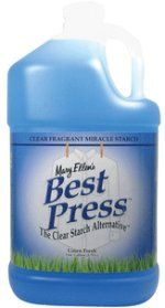 Recipes for Mary Ellen's Best Press, home made spray starch and reasons to starch your quilting fabric!