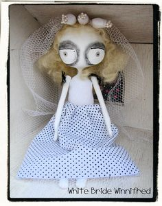Art Doll - White Bride Winnifred.  via Etsy.