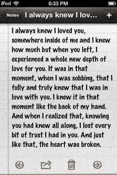Twitter / Breakup_Probz: #HeartBroken #WordsFromMyHeart ...
