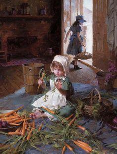 """http://media.liveauctiongroup.net/i/15754/15705692_1.jpg?v=8CFE48D5C97C060 """"The Carrot Girl"""" by Morgan Weistling, artist"""