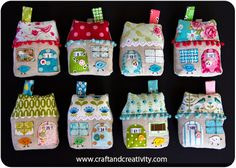 TIny fabric houses DIY