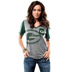 Majestic Green Bay Packers Break the Limit Tee - Women's