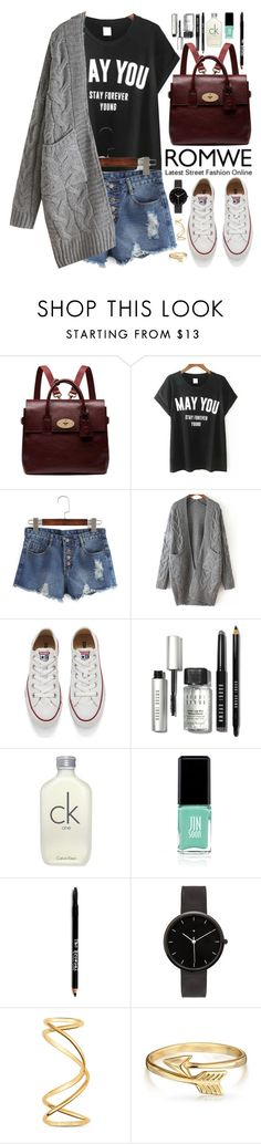 """""""Romwe"""" by oshint ❤ liked on Polyvore featuring Mulberry, Converse, Bobbi Brown Cosmetics, Jin Soon, Lord & Taylor, I Love Ugly, Maison Margiela and Bling Jewelry"""