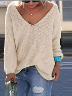 Oversized long sleeve pullover knit top