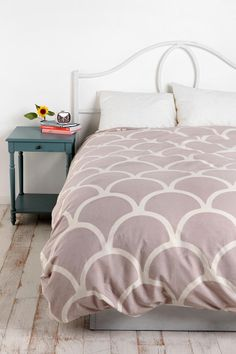 Stamped Scallop Duvet Cover  #UrbanOutfitters    Maybe white walls and a nice comforter?