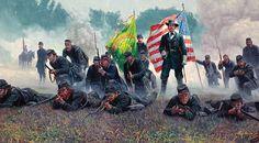 Mort Kunstler - Hancock the Superb The Irish brigade at Antietam