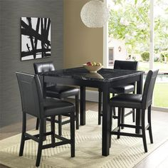Dorel Living Andover Faux Marble Counter Height Dining Set