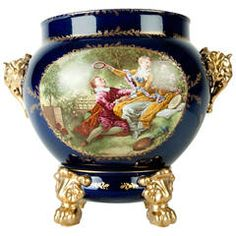 Vintage Limoges Porcelain Cache Pot