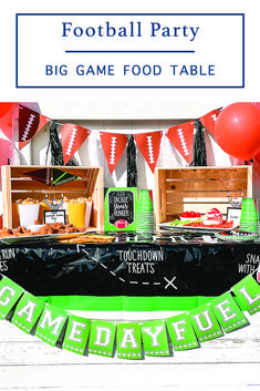 #Ad Host a small party for the Big Game with inspiration and tips from Everyday Party Magazine #FootballParty #Football #BigGameParty #SuperBowlParty