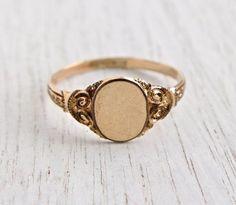 edwardian vintage ring golden brass - Google-søgning