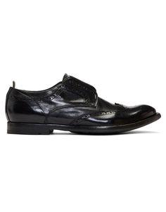 OFFICINE CREATIVE Black Anatomia 3 Loafers · VERGLE