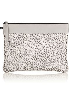 Newbark | Laser-cut leather clutch