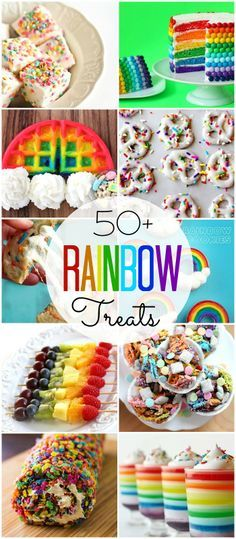 Rainbow Treats perfect for a My Little Pony party Rainbow Treats, Rainbow Food, Rainbow Theme, Rainbow Dash Party, Rainbow Desserts, Cake Rainbow, Rainbow Sprinkles, Rainbow Unicorn Party, Rainbow Birthday Party
