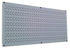 Wall Control Pegboard 16in x 32in Horizontal Grey Metal Pegboard Tool Board Panel by Wall Control, http://www.wallcontrol.com/16in-x-32in-horizontal-gray-metal-pegboard-tool-board-panel/
